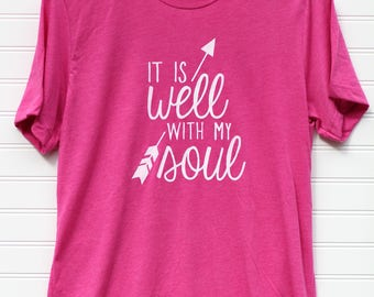 Short-sleeve Triblend UNISEX T-shirt (It Is Well With My Soul shown)