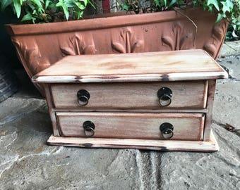Distressed Wood Musical Jewelry Box