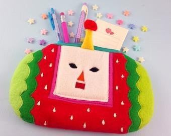 Ichigo Katamari Pouch | Katamari 3DS Holder | Cute Red Zippered Pouch