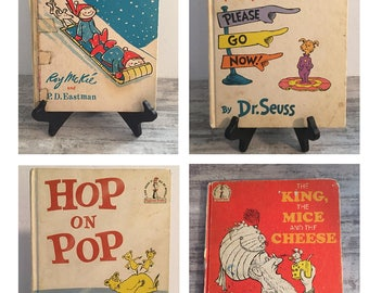 Vintage Dr. Seuss Book Lot, Hop on Pop, The King The Mice And The Cheese, Snow, Marvin K Mooney Will You Please Go Now, P.D. Eastman, Gurney