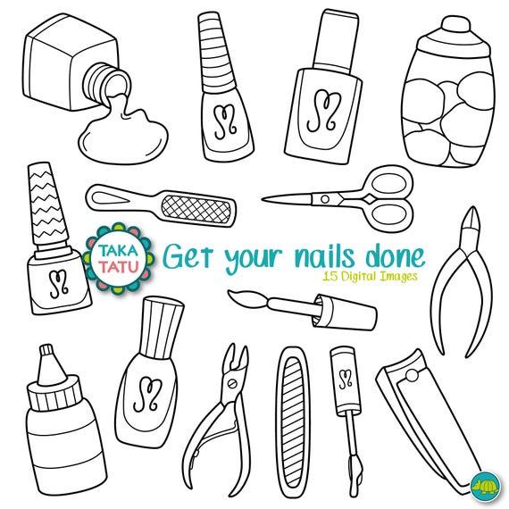 Manicure Clip Art / Pedicure