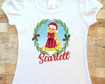 Rapunzel Shirt, Tangled Shirt, Personalized Christmas Shirt, Christmas Shirt, Princess Shirt, Gifts For Girls, Gifts for Toddler