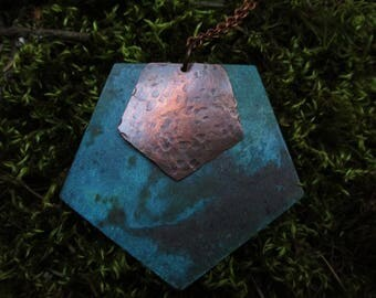 Rustic Pentagon Statement Necklace