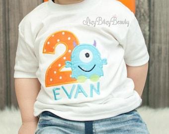 Boys Monster Birthday Shirt - Monster First Birthday Shirt Or Bodysuit - ANY AGE - Monster - Birthday - Boys Birthday Shirt
