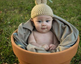 Crochet Mandrake Hat Photo Prop Costume Dress Up
