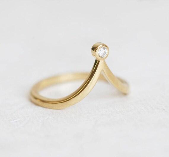 V ring V diamond Ring Diamond V Ring V Shape Diamond Ring