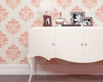 Furniture stencil - Damask Pattern Stencil - Reusable Stencil