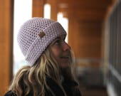 NEW* Pale Orchid- ACRYLIC Soft Light Weight Wool Slouchy Beanie