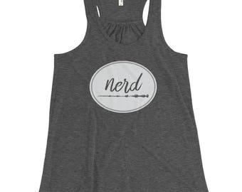 Harry Potter Inspired / Nerd Women's Tank Top –Flowy Racerback Tank – NERD –Elder Wand / Harry Potter Shirt