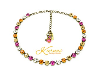 ASTRAL ALLURE 8mm Necklace Made With Swarovski Crystal *Choose Finish & Size *Karnas Design Studio™ *Free Shipping*