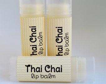 Thai Chai - Sweetened Lip Balm - Thai Chai Lip Balm - Thai Chai Chapstick - Lip Moisturizer -Tea Flavored Lip Balm - Natural Lip Butter