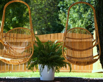 Vintage Rattan Hanging Chairs