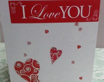 Valentine Card, Husband, Wife, Boyfriend, Girlfriend, Fiancee, Hand Made