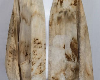 Upcycled Hand-dyed Light Cotton Duster/Cardigan- Fits Most