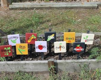 Vegetable Marker Signs, garden decor, wood signs,
