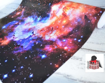 Galaxy wrapping paper sheets space nebula gift wrap GW5054
