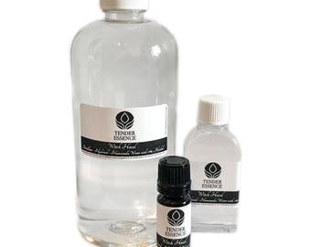 Witch Hazel Pure Natural Distilled Skincare Acne Face Toner. With alcohol or not