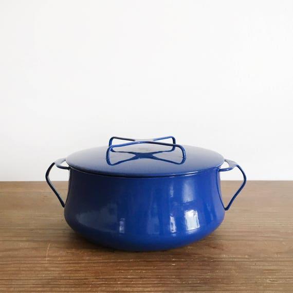 Mid Century Modern Oven ~ Vintage dansk kobenstyle dutch oven pot in blue mid century