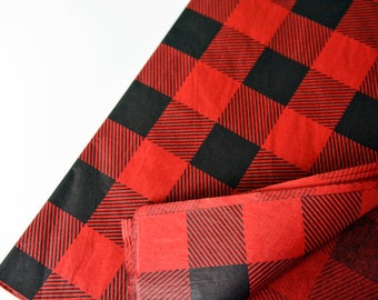 Red Buffalo Plaid Tissue Paper, Gift Wrapping, Lumberjack Tissue Paper, Lumberjack Loop Bag, Tassel Garland DIY, Buffalo Plaid Gift Wrapping