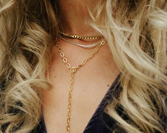 Ava – Necklace//silver, gold or gold
