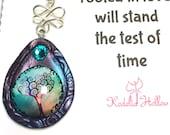 Freundschaft Geschenk, Geschenk für sie, Anhänger Baum des Lebens, Baum des Lebenhalskette, Halskette aus Fimo
