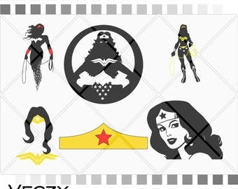 wonder woman svg, wonder woman clip art, superhero svg, svg files for cricut, Cut Files, cricut files.