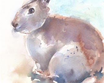 Bunny. Original watercolour.