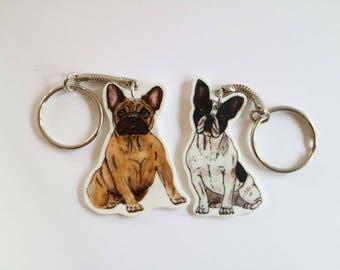 French Bulldog Keyring