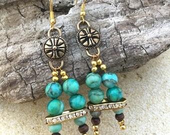 Handmade Medieval Tribal Earrings, Warrior, Goddess, Festival, Coachella, Sexy, Unique, Fantasy, Dragon, GOT (Blade Beauty Earrings)