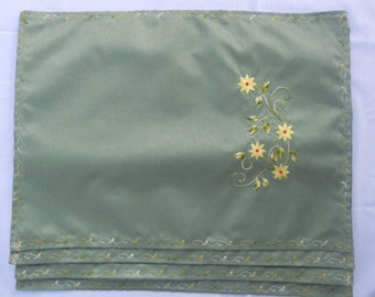 Handmade Embroidered Placemats