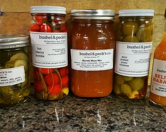 B&P's Bloody Mary Gift Box: Small Batch Mix, Pickles and Hot Sauce