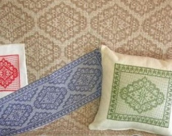"""Pattern """"Vintage Lace"""" Swedish Weave Designs by Katherine Kennedy ***Pattern for Huck Embroidery ***Home Decor***Hostess Gift"""