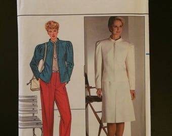 1980's Butterick Pattern # 4760, Misses size 12, Jacket, Pants, & Skirt, Uncut