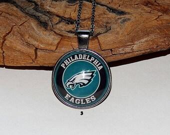 Philadelphia Eagles football logo Necklace Pendant jewelry keycain, Men's jewelry, Philadelphia Eagles Fan Art simbol patch, NFL football