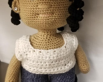 Tank, Jeans, and Boots Pattern for Jenna Doll Crohet Amigurumi