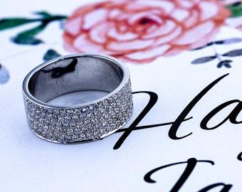 1 Carat Diamond Wedding Band - 14K  White Gold Channel Setting #631w  FREE SHIPPING