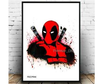 Deadpool Fine art Giclle print