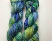 115g fingering weight sock yarn - Pond Life