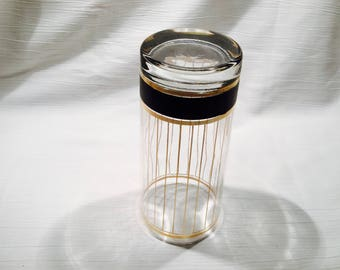"Vintage rare Culver Ltd ""Devon-Black"" Highball glass from 1991.  Superb condition.  Free domestic shipping"