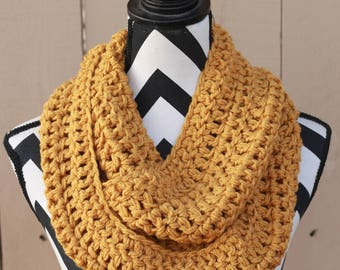 Ready to Ship Mustard Yellow Infinity Scarf
