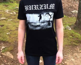 BURZUM Shirt Free Shipping Black Metal Mayhem Darkthrone Screen Print