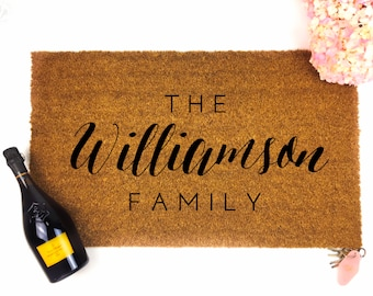 Custom Last Name Doormat - Door Mat - Custom Doormat - Personalized Doormat- Custom Mat - Wedding Gift - Housewarming gift - last name mat