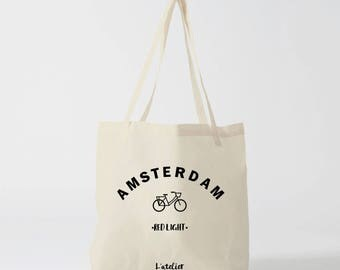 X489Y tote bag amesterdam tote bag city tote bag canvas capital, cotton, shopping bag, bag and tote bag, travel bag, bag cocktails