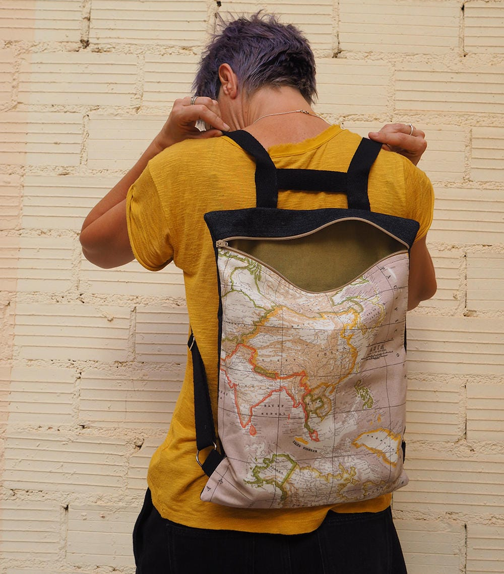 Map backpack world map bag the world is yours fabric bag map backpack world map bag the world is yours fabric bag travelers gumiabroncs Gallery