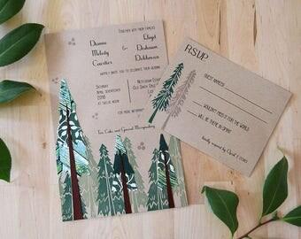 Everlasting Redwood Invitation Set