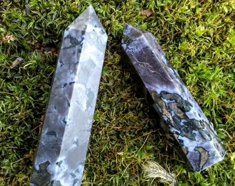 MERLINITE Serpentine INDIGO GABBRO Point- 3''+, Healing, Guide, Elemental, Meditation, Crystal Magic, Witch, Reiki, Feng Shui, Zen 24.00US+