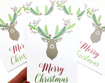 5 Handmade Christmas Cards, Christmas Greeting Cards, Holiday Cards, Christmas NoteCards, Christmas Cards Handmade, Christmas Card Sets