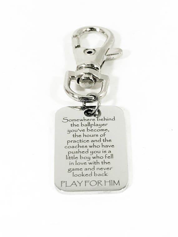 Son Encouragement Gift, Play For Him Gift, Baseball Bag Zipper Pull, Son Gift, Backpack Zipper Pull, Motivating Son Gift, Encouraging Gift