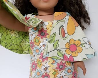 "70's Mini Dress for any 18"" doll like the American Girl 4 pieces"