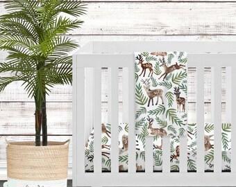 Deer Crib Bedding Etsy - Baby boy deer crib bedding sets